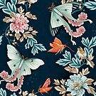 Foraging moths by bound-textiles