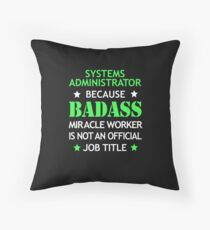 Systems Administrator Badass Funny Birthday Cool Christmas Gift Floor Pillow