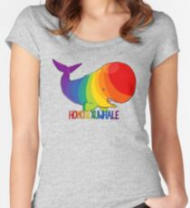 Homosexuwhale - with text Women's Fitted Scoop T-Shirt