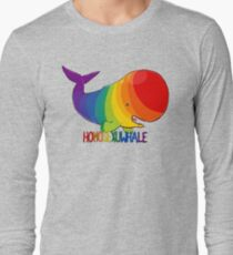 Homosexuwhale - with text Long Sleeve T-Shirt