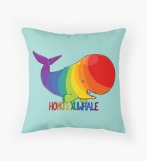 Homosexuwhale - with text Throw Pillow