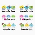 Stickers 3 cupcakes - cupcake love by Andi Bird