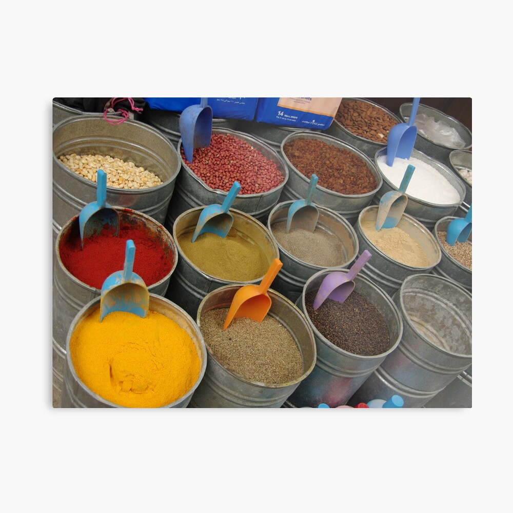 Spices - Old Souk, Fez, Morocco Metal Print