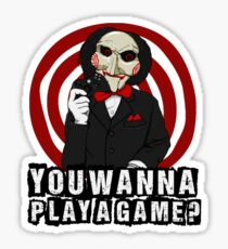 Billy - You wanna play a game? Sticker
