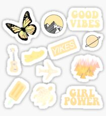 Yellow Butterfly Stickers   Redbubble