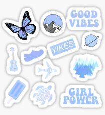 Pastel Blue Pack Sticker