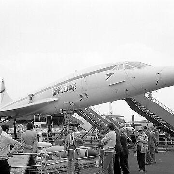 BA Concorde G-BBDG at Farnborough by crware