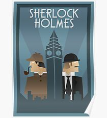 Sherlock Holmes Art Deco Poster