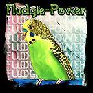 Fludgie-Power Budgie by Skye Elizabeth  Tranter