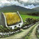 Thatched Irish cottage by tanyabond