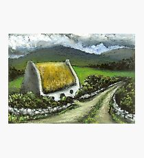 Thatched Irish cottage Photographic Print