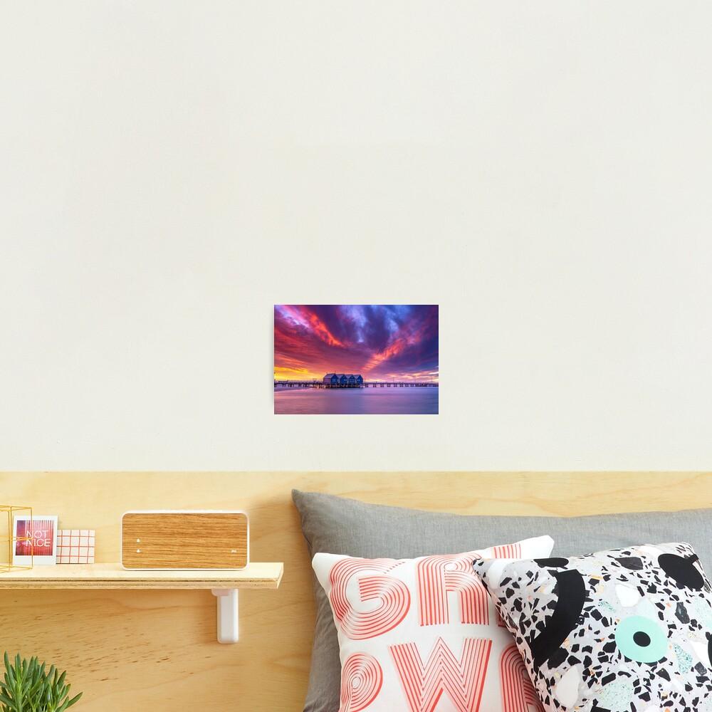 Busselton Sunset Colour Burst Photographic Print