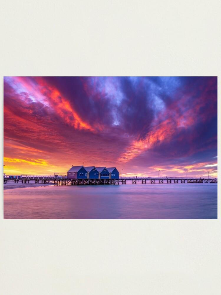 Alternate view of Busselton Sunset Colour Burst Photographic Print