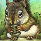 Little squirrel by tanyabond