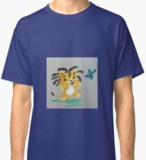 Lion Cub catches Butterfly Classic T-Shirt