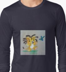 Lion Cub catches Butterfly Long Sleeve T-Shirt