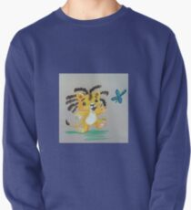 Lion Cub catches Butterfly Pullover Sweatshirt