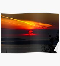 Sunset Over the Pacific Coast Poster