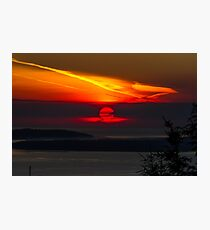Sunset Over the Pacific Coast Photographic Print