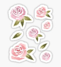 Little Pink Roses ~ Sticker Set Sticker