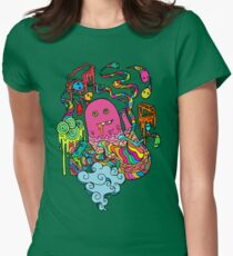 Pop Monster Color Womens Fitted T-Shirt
