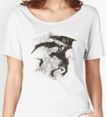 Dragonfight-cooltexture B&W Women's Relaxed Fit T-Shirt