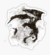 Dragonfight-cooltexture B&W Sticker