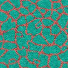 Giraffe Fur Pattern Teal and Coral by BigAl3D