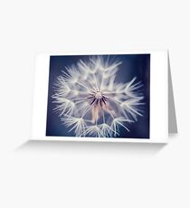Dandelion Blue Greeting Card