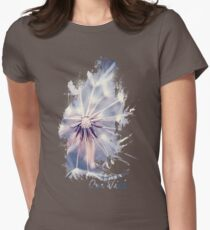 Dandelion Blue Womens Fitted T-Shirt