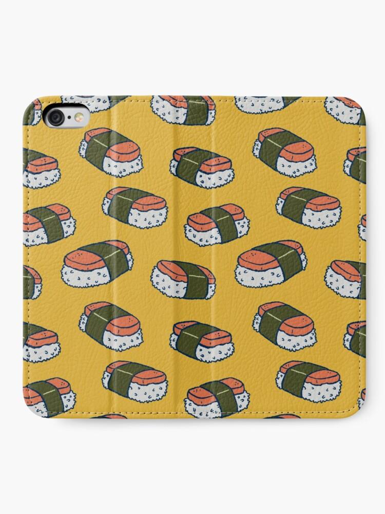 Alternate view of Spam Musubi Sushi Pattern iPhone Wallet