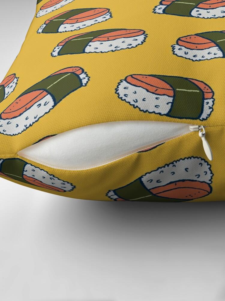 Alternate view of Spam Musubi Sushi Pattern Throw Pillow