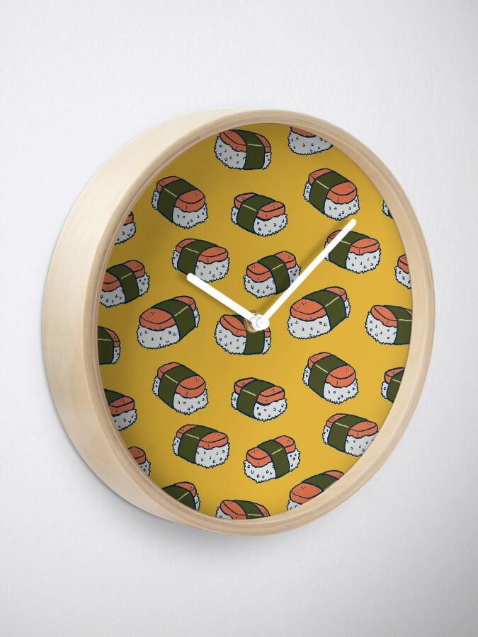 Alternate view of Spam Musubi Sushi Pattern Clock