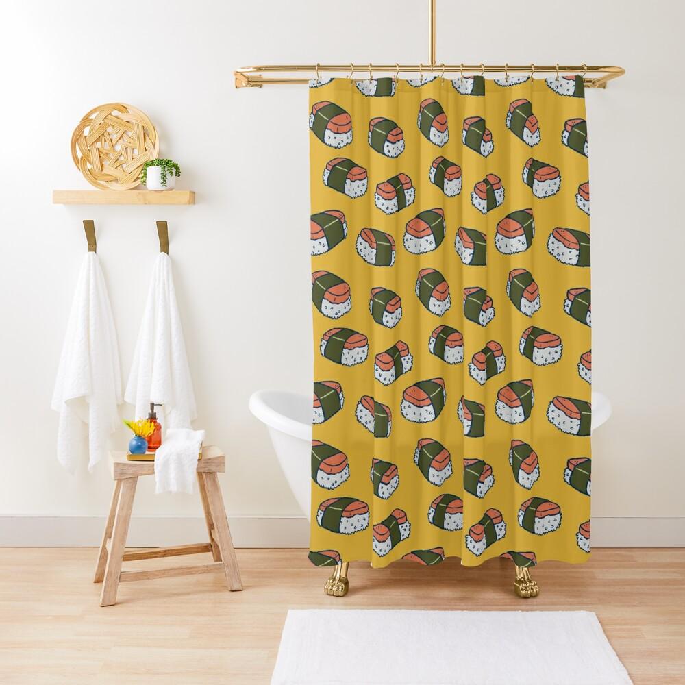 Spam Musubi Sushi Pattern Shower Curtain
