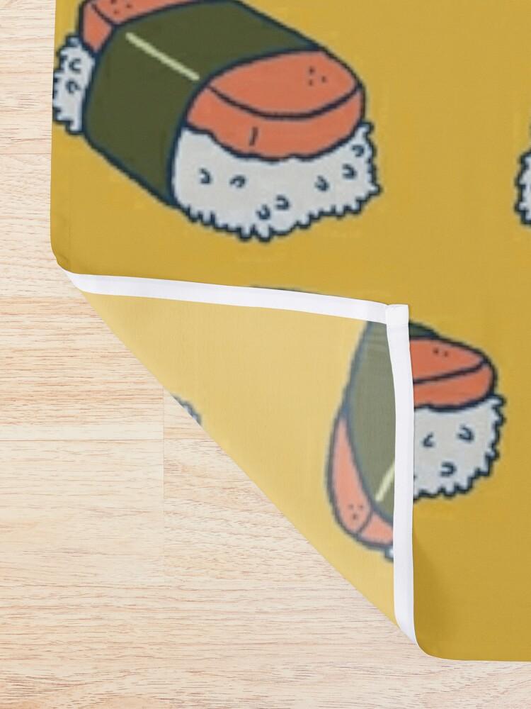 Alternate view of Spam Musubi Sushi Pattern Shower Curtain