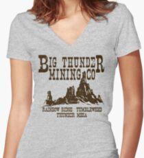 Big Thunder Mining Co Women's Fitted V-Neck T-Shirt