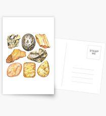 Gelbes Kristallaquarell entsteint Muster Postkarten