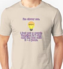 I'm clever at puzzles me... Slim Fit T-Shirt