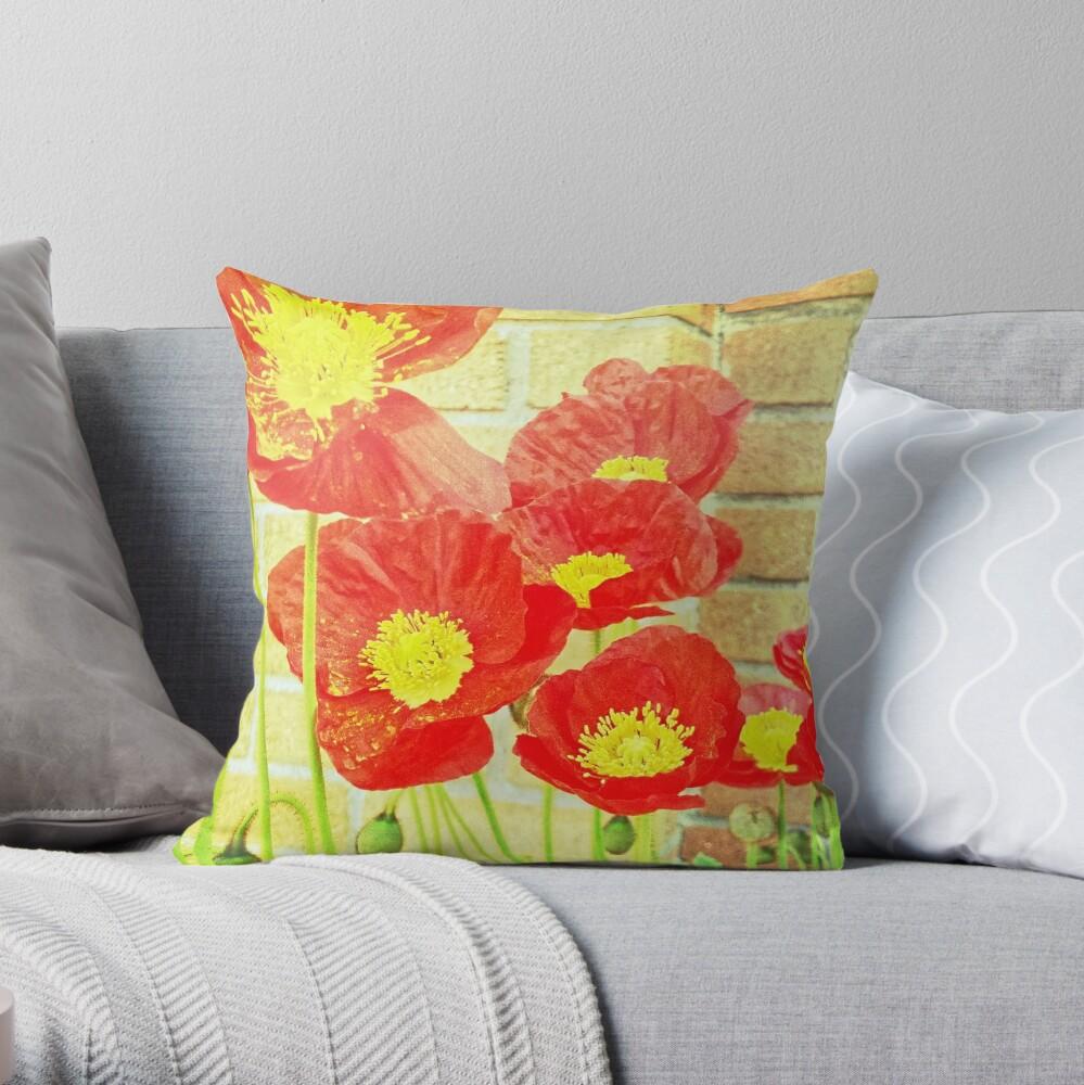 Poppyfied Throw Pillow
