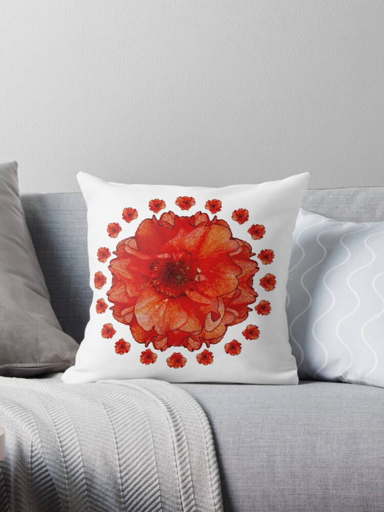 Poppy Field Mandala by OneDayArt