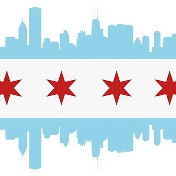 Horizonte de la bandera de Chicago de DarienBecker