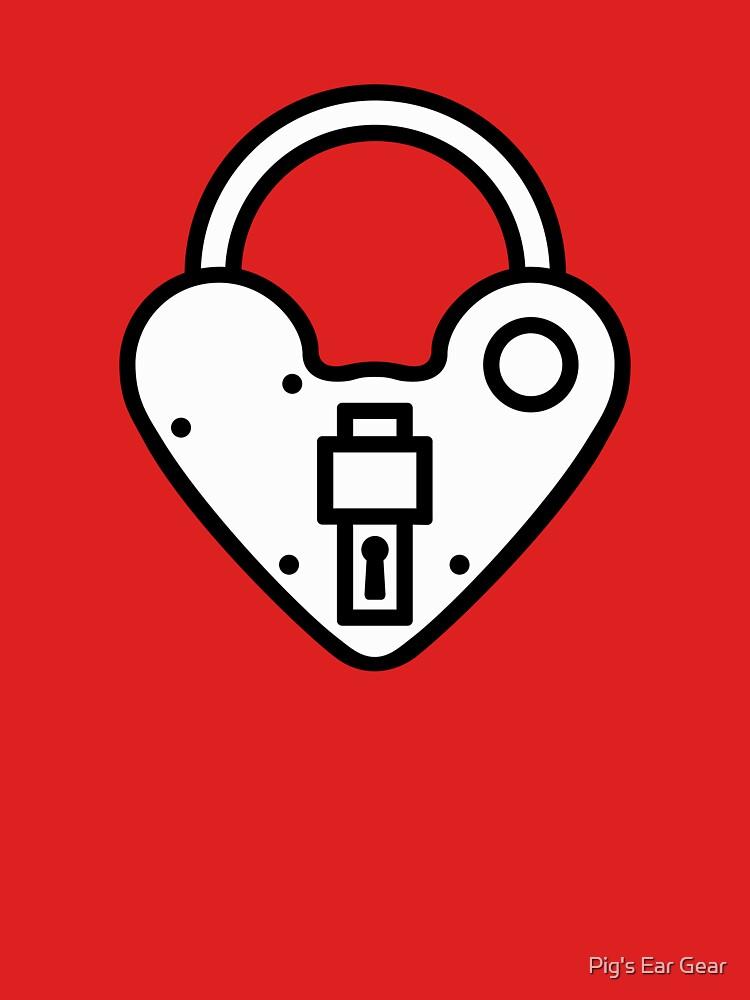 Loveheart Lock - love heart padlock by adorman