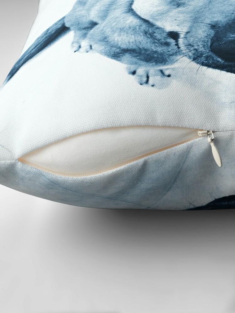 Alternate view of Carolina Blue Pup Throw Pillow