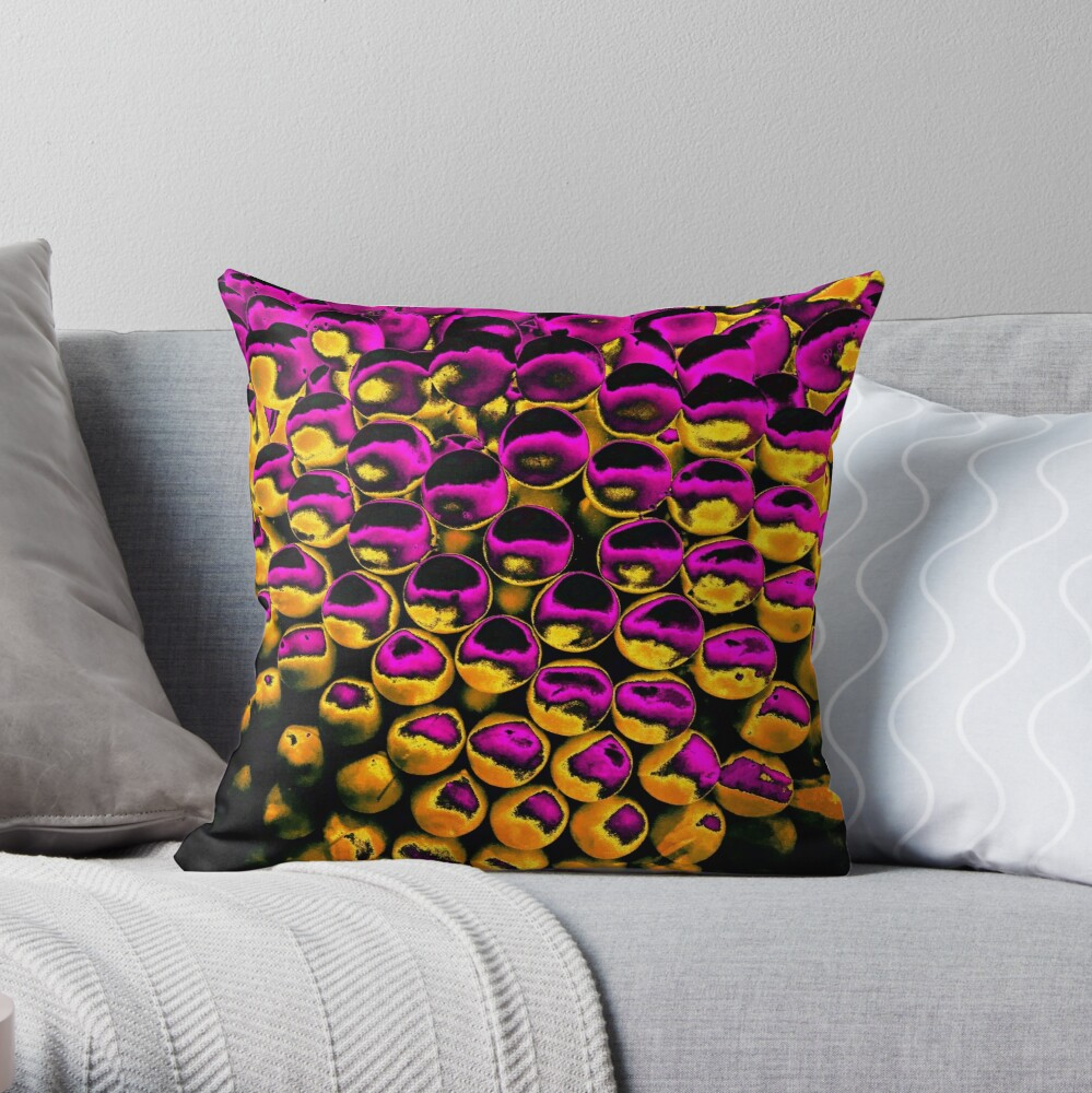 Toasted Orbs - Abstract Pop Art Photography Throw Pillow