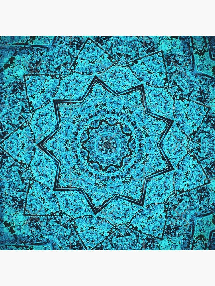 Divine Turquoise Mandala by OneDayArt
