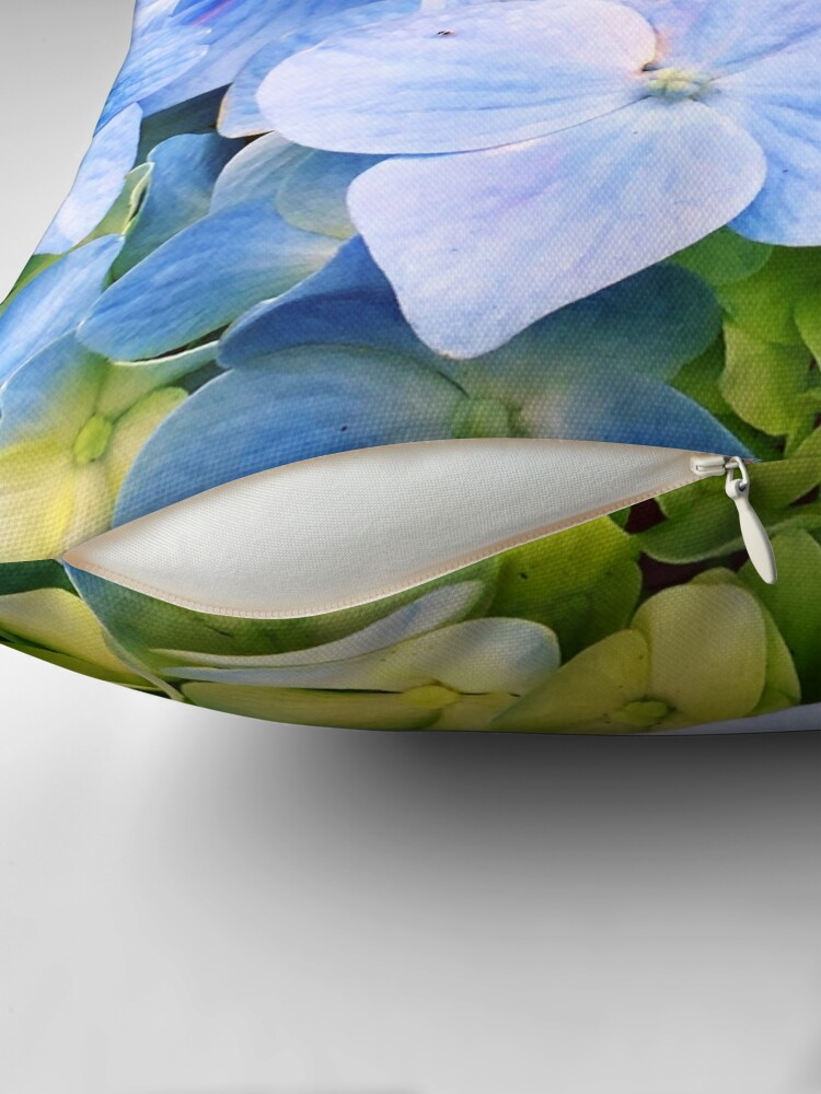 Alternate view of Blue Hydrangeas Throw Pillow
