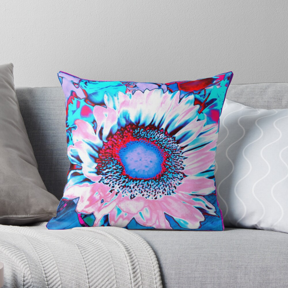 Iced Sunflower Throw Pillow