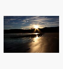 Sunset at Norman Beach Photographic Print