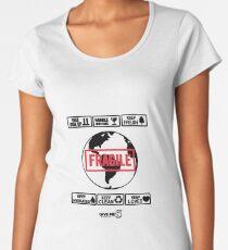 Fragile planet (black) Women's Premium T-Shirt