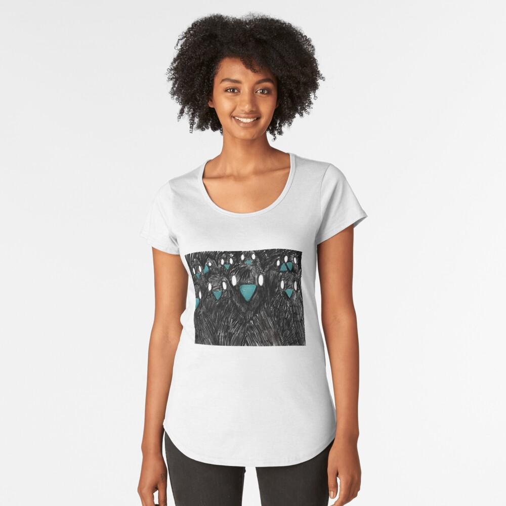 Raven in Team Premium Rundhals-Shirt